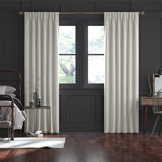 Dupioni Faux Silk Oyster Curtains