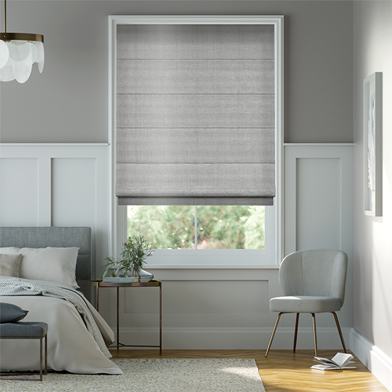 Soft Roman Blinds Shop Contemporary Silver Roman Blinds