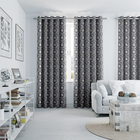 Eclectic Zest Anchor Grey Curtains