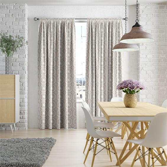 Eclectic Zest Dusty Grey Curtains