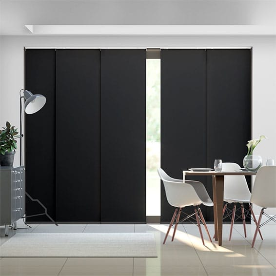 Eclipse Black Panel Blind