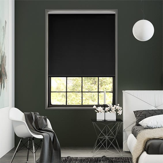 Eclipse Black Blockout Roller Blind