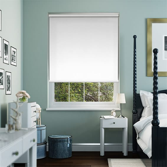 Eclipse Brilliant White Blockout Roller Blind