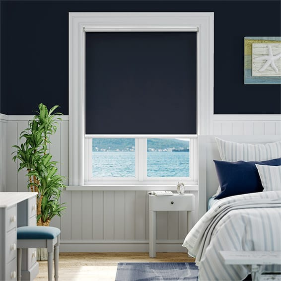 Electric Eclipse Navy Roller Blind