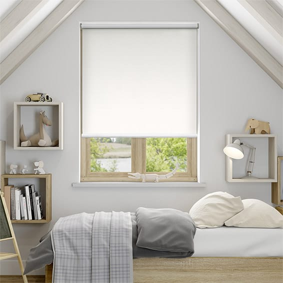Eclipse White Blockout Roller Blind