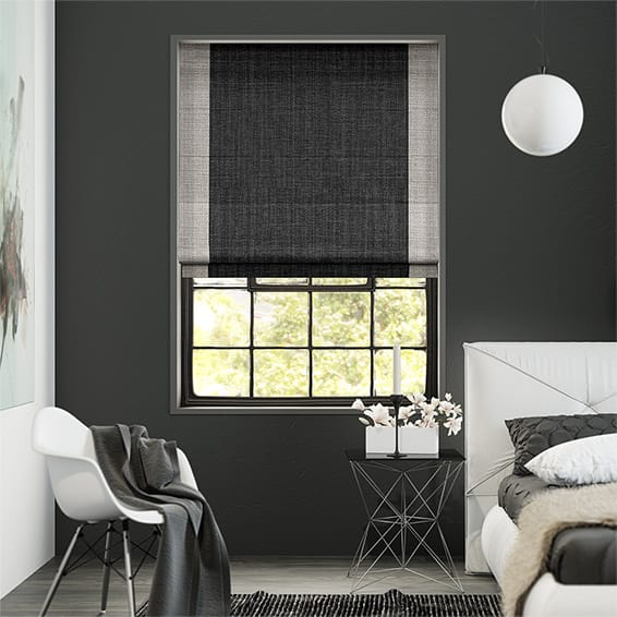 Eclissi Charcoal Roman Blind