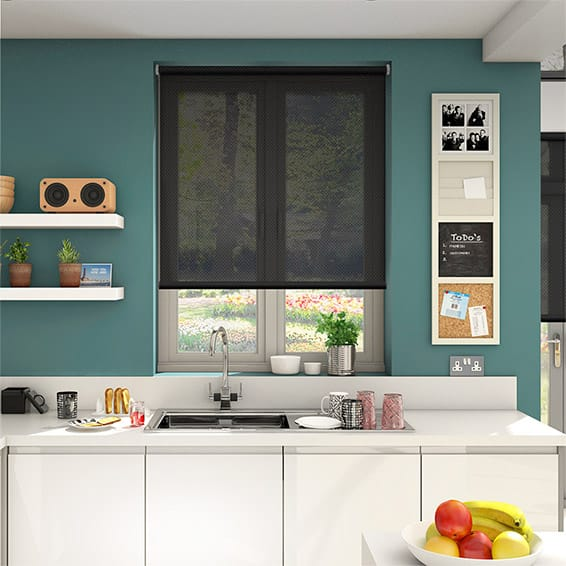 Oracle Black Sunscreen Roller Blind