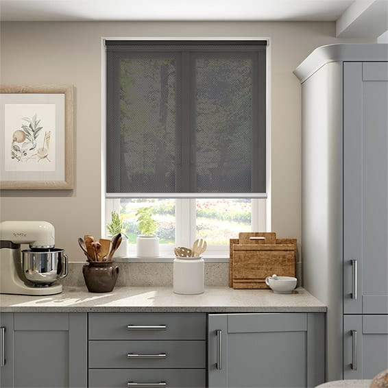 Oracle Bronze/Charcoal Sunscreen Roller Blind