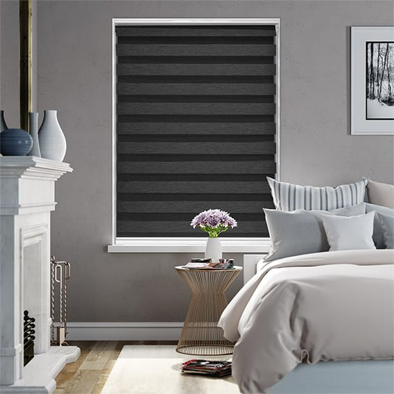 Enjoy Dimout Charcoal Zebra Roller Blind