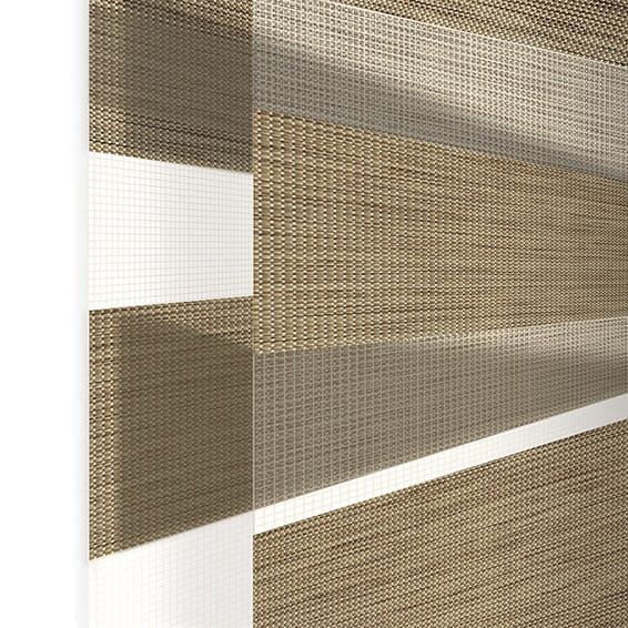 Enjoy Honey Oak Zebra Roller Blind Blinds Online