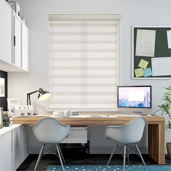 Enjoy Luxe Cream Zebra Roller Blind