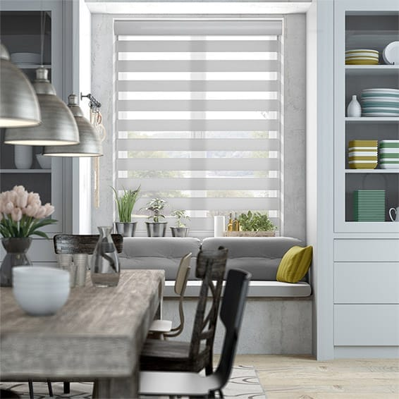 Enjoy Luxe Grey Zebra Roller Blind