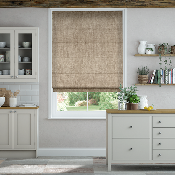 Eternity Linen Biscuit Roman Blind