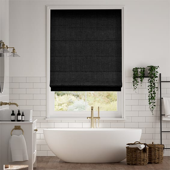 Eternity Linen Charcoal Roman Blind