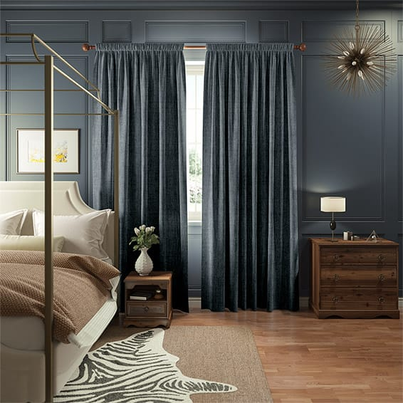 Eternity Linen Denim Curtains