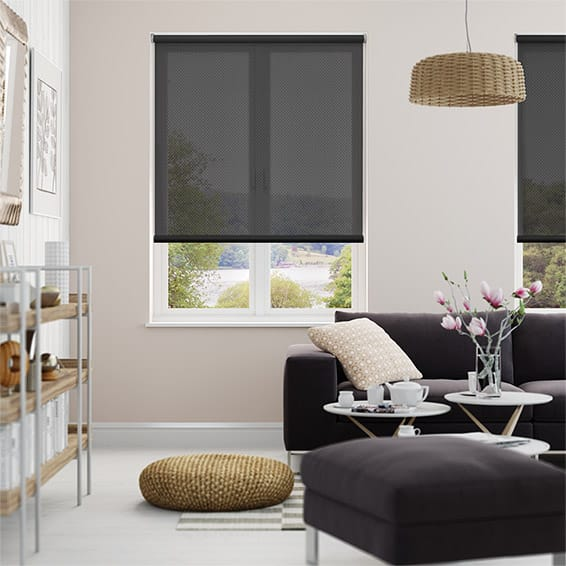 Helios Charcoal Sunscreen Roller Blind
