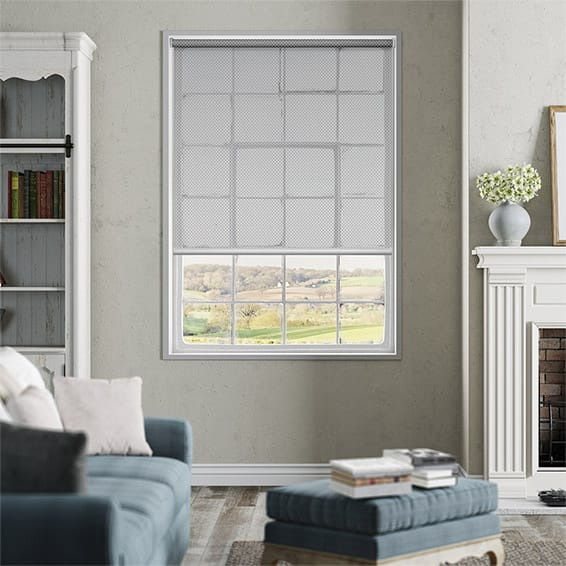 Helios Grey Sunscreen Roller Blind