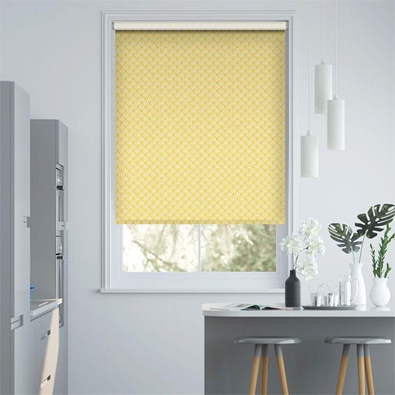 Fretwork Honey Roller Blind