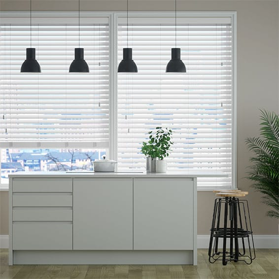 Frost White Timber Style Venetian Blind