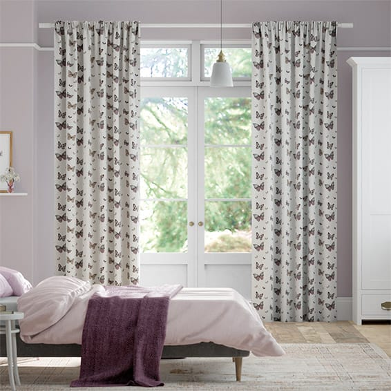 Gentle Wings Linen Lollipop Curtains