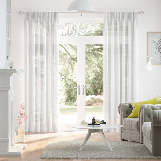 Glace Sheer Ice White Curtains