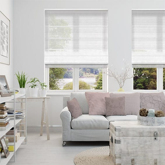 Glace Sheer Ice White Roman Blind