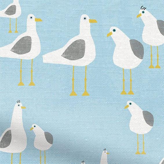 Seagulls Blue Haze Curtains Blinds Online