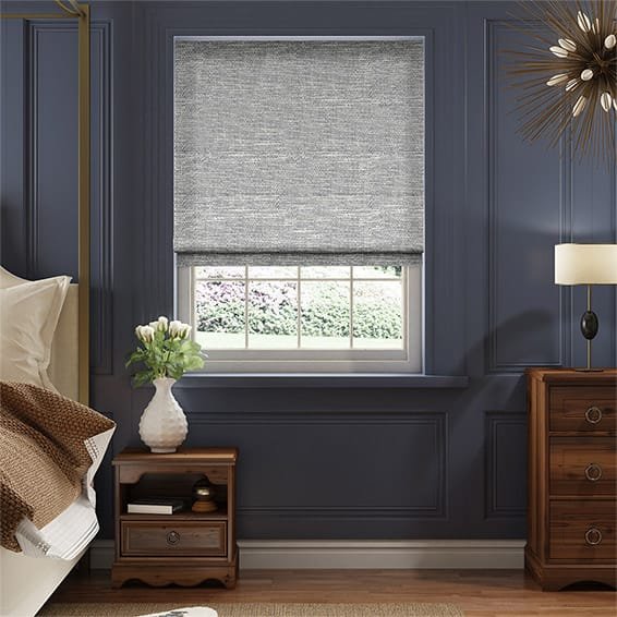 Harlow Midnight Blue Roman Blind
