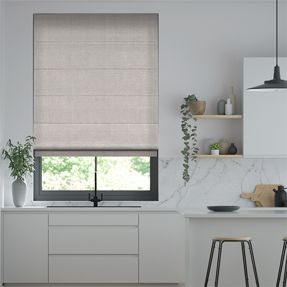 Harrow Grey Wash Roman Blind