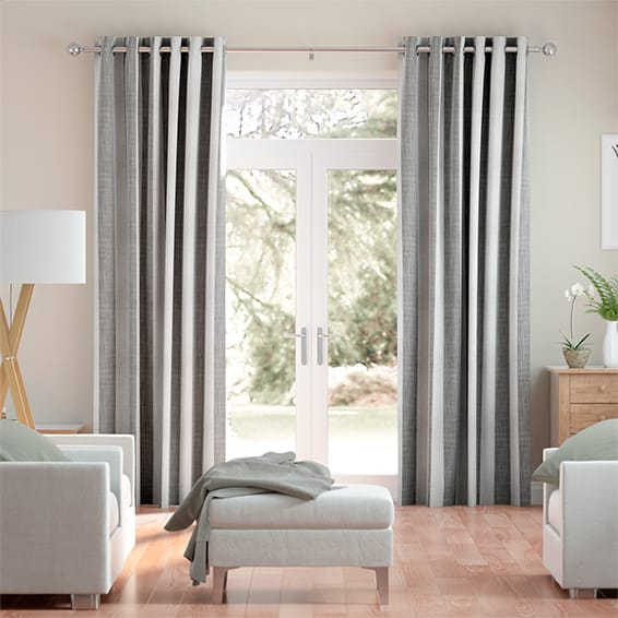 Hathaway Rustic Grey Curtains