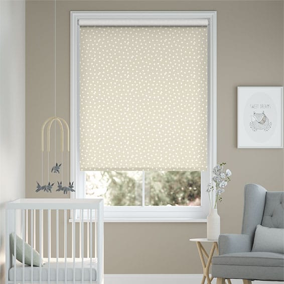 Hearts Pale Stone Roller Blind