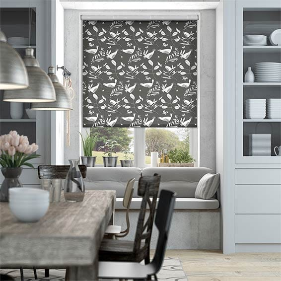 Hygge Birds Graphite Roller Blind