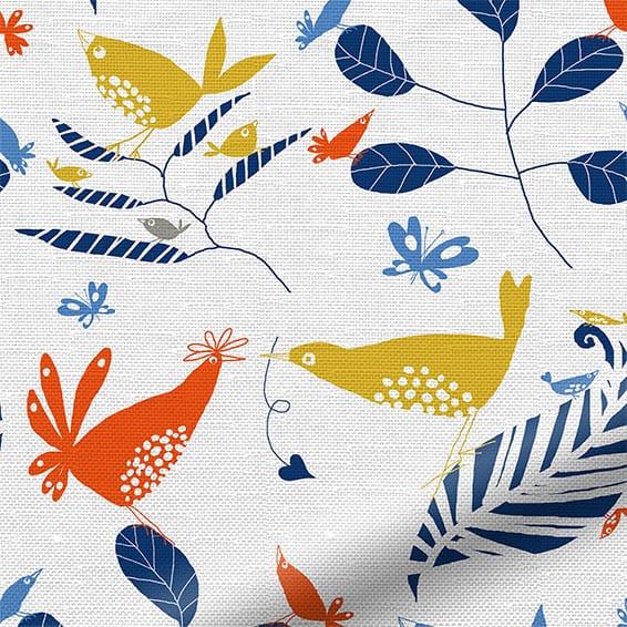Hygge Birds Nordic Blue Roller Blind Blinds Online