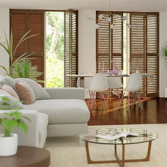 Kinglake Mahogany Shutter Blinds