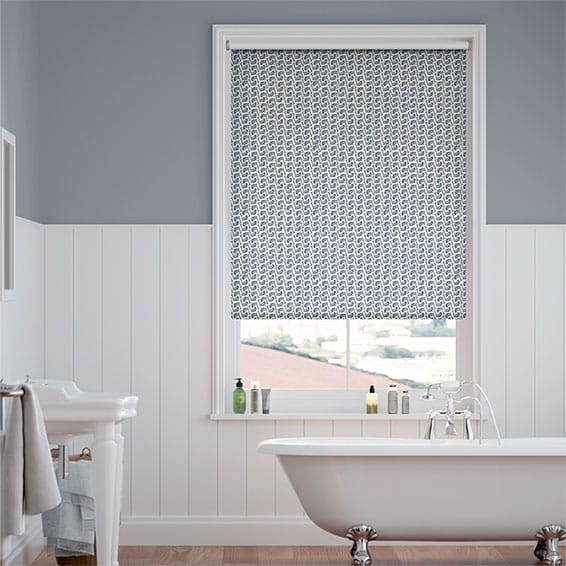 Splash Leaping Fish Stormy Blue Roller Blind
