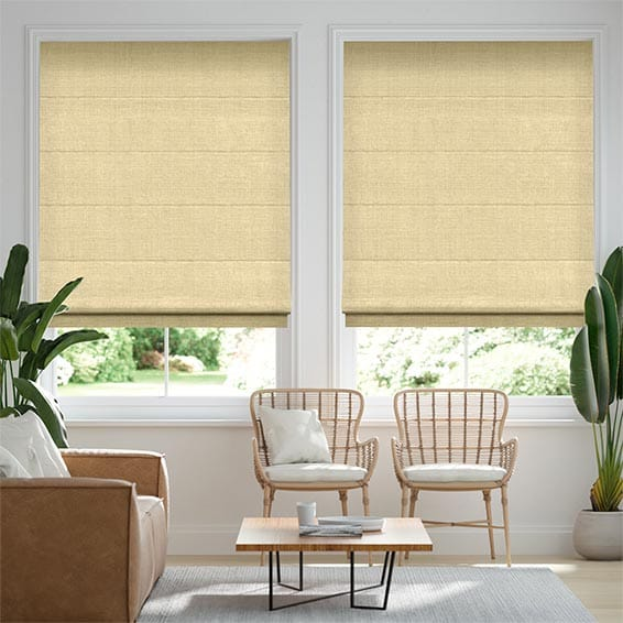 Leyton Golden Yellow Roman Blind