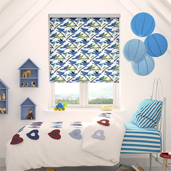 Little Dove Bluebell Roller Blind