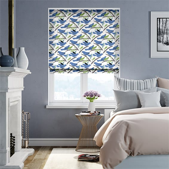 Little Dove Bluebell Roman Blind