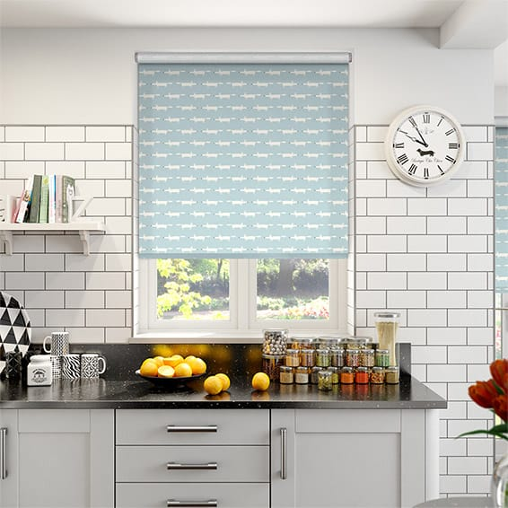 Little Mr Fox Mist Roller Blind