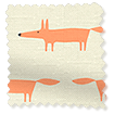 Little Mr Fox Orange Roller Blind slat image
