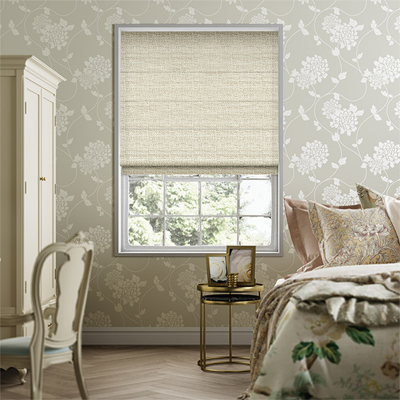 Mallay Latte Cream Roman Blind