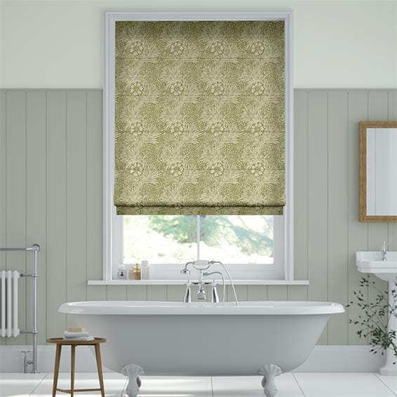 William Morris Marigold Moss Roman Blind