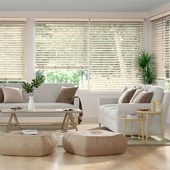 Metropolitan Almond Wooden Blind