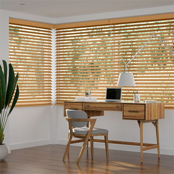 Metropolitan Golden Oak Wooden Blind