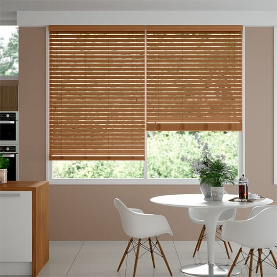 Metropolitan Honeyed Oak Wooden Blind