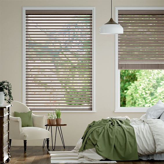 Metropolitan Smoke Whisper Wooden Blind
