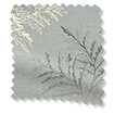 Moonlit Fern Faux Silk Platinum Curtains slat image