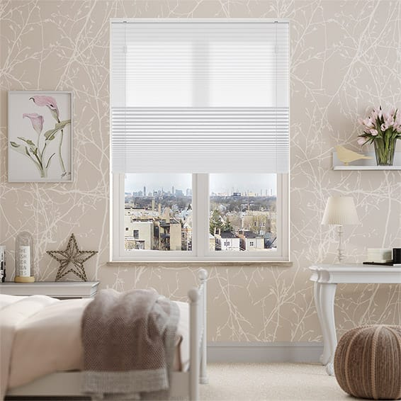 Night & Day Duo Simply White Pleated Blind