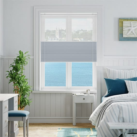 Night & Day Duo Voile Sky Pleated Blind