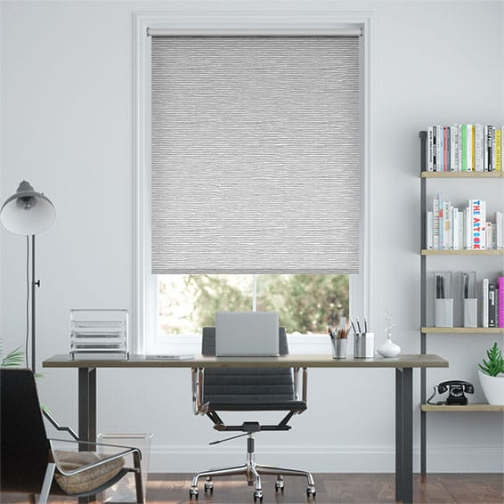 Oasis Chrome Blockout Roller Blind